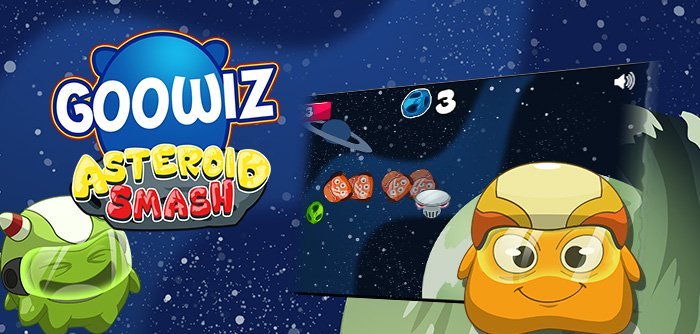The Goowiz are going crazy with a game where you have to shoot the asteroids on their way to conquer the earth!