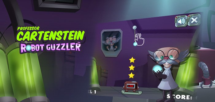 A puzzle game invented by Professor Cartenstein where you have to place pieces in his Robot Guzzler