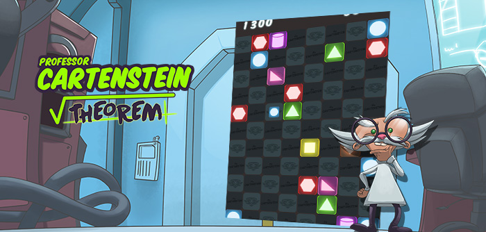 Professor Cartenstein has invented a new puzzle game where you have to connect the elements together!