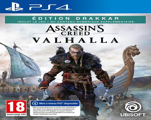 un Jeu Ps4 Assassin'S Creed Valhalla - Drakkar Edition - Version Ps5 Incluse