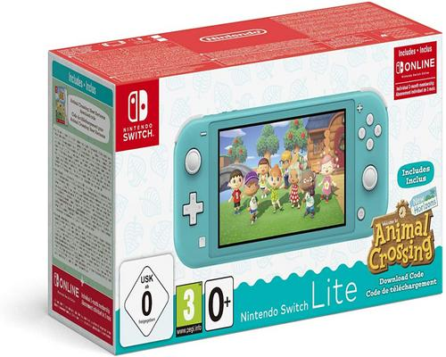 un Jeu Nintendo Switch Console Nintendo Switch Lite Turquoise + Animal Crossing : New Horizon + 3 Mois D'Abonnement Nintendo Switch Online
