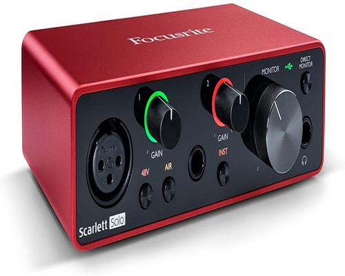 une Interface Focusrite Scarlett Solo 3Rd Gen