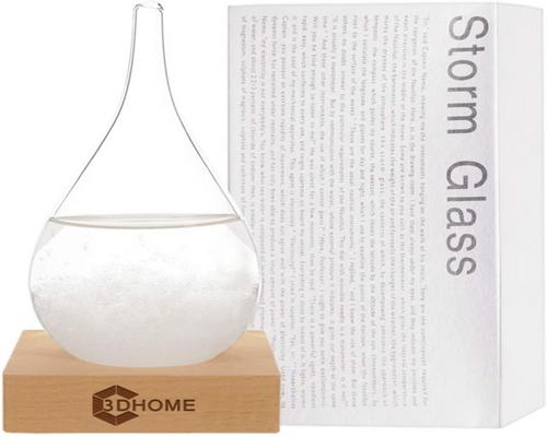 une Station 3Dhome Storm Glass Weather Water Drop Weather Predictor Creative Forecast Nordic Style Decorative Weather Glass