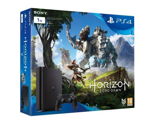 une console Playstation 4 Pro + Horizon Zero Dawm -Combo