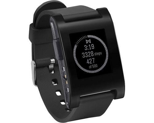 une Montre Connectée Noire Pebble Smartwatch