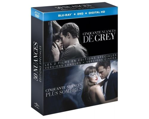 Blu ray Cinquante nuances de Grey + Blu ray Cinquante nuances plus sombre