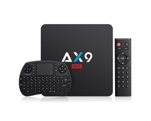 Une Box TV Android 7.1 AX9 MAX avec clavier