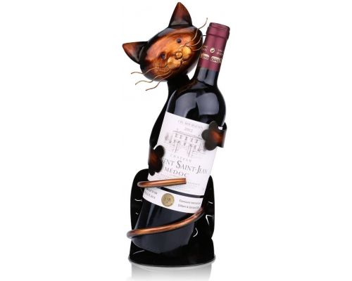 Un Casier Bouteille à Vin Chat