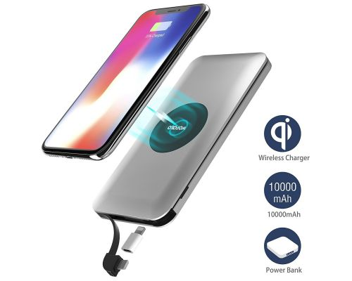 Un Chargeur a Induction sans fil 2 en 1 PowerCore 10000mAh