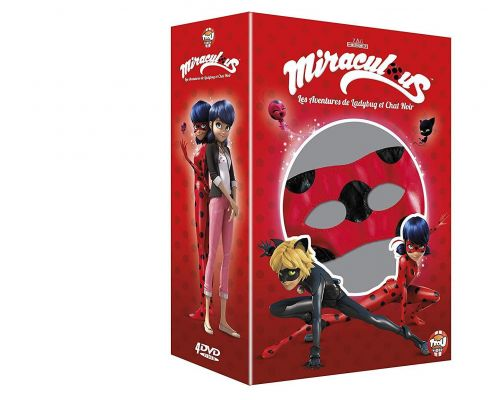 un Coffret DVD Miraculous Volumes 4 à 7