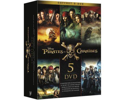 Un Coffret Pirates des Caraïbes - Coffret 5 films
