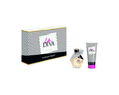 Un Coffret La Diva Eau de Parfum Femme 50 ml + Lotion pour Corps, 100 ml
