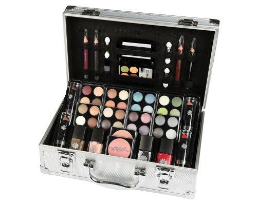 Un Coffret maquillage Malette en aluminium 51 pieces