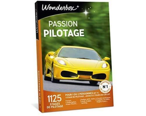 Un Coffret Wonderbox PASSION PILOTAGE