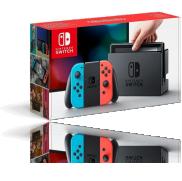 Une Console Nintendo Switch avec Joy-Con - rouge néon/bleu néon