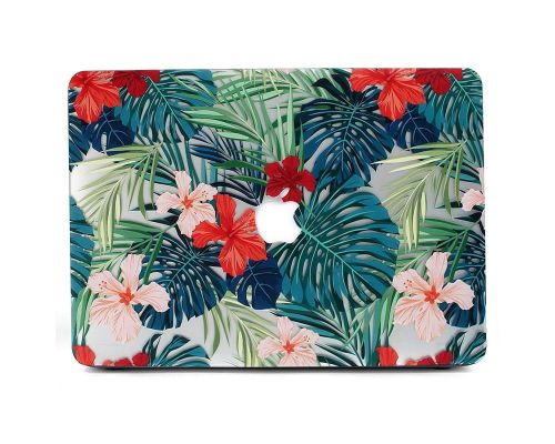 "Une Coque MacBook Air 13"" Palm Leaves and Red Flowers"