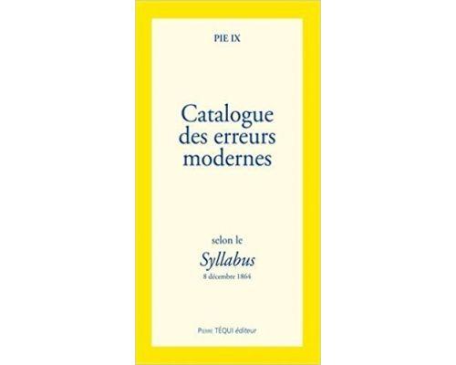 Un livre Catalogue des erreurs modernes