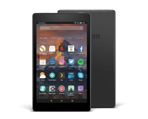 Une Tablette Fire HD 8pouces écran HD 16 Go Noir