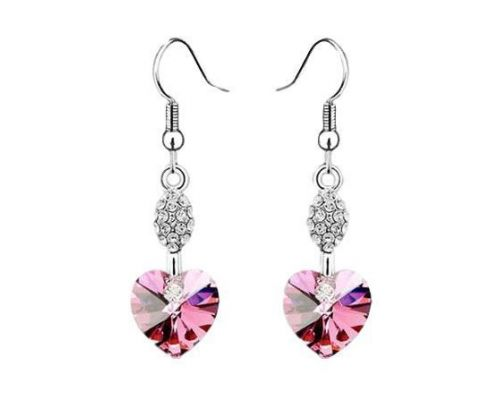 A Pair of Earrings ICandy Heart of Pink Clover