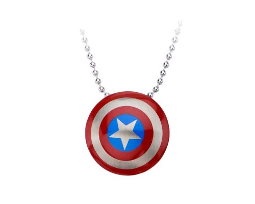 a Chain with Captain America Pendant