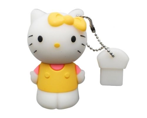 une Clé USB Hello Kitty 8 Go Jaune