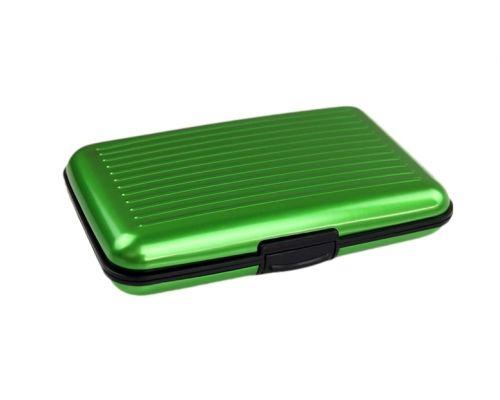 un Porte Cartes Aluminium Couleur Verte