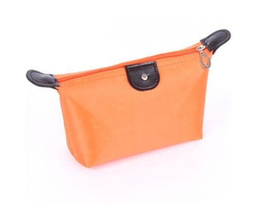 une Trousse Vanity en Toile Orange