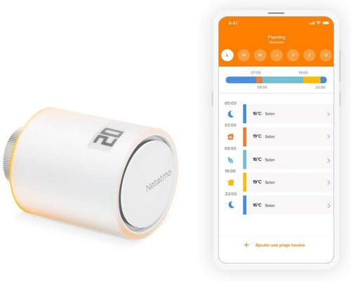 a Netatmo Thermostat Ique Connected And Intelligent Head