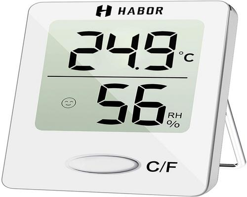 een Habor Mini Indoor Digital High Precision Thermometer