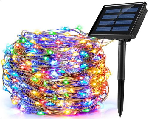 an Ankway Garland of Outdoor Solar Lights