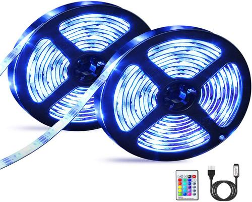 a Ribbon Led Strip 3M X 2, Omeril Led 5050 Rgb 16 S And 4 Waterproof Modes