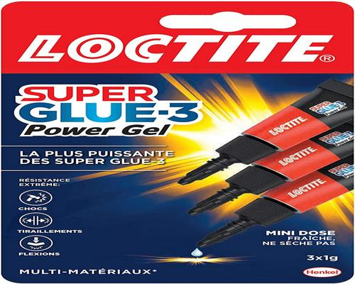 a Loctite 1858 125 Superglue 3 Gel Power Flex