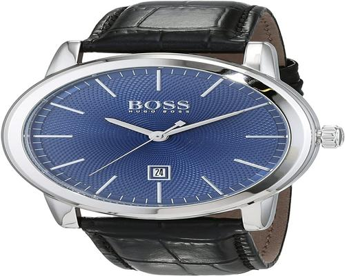 Hugo Boss Mens Analogue Classic Quartz Watch With Leather