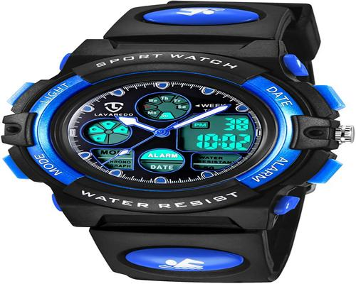 A Waterproof Multifunction Sports Children's Digital Boy Girl Watch With Backlit Led Display