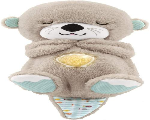 En Fisher-Price My Otter Cuddles Good Night Floodlight Nightlight Soothing Baby Plush With Heartbeat