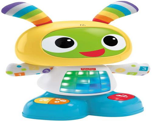 a Fisher-Price Bebo Interaktiivinen robottilelu, jossa on 3 pelitilaa