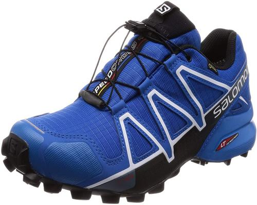 A Pair Of Salomon Speedcross 4 Gtx Waterproof Hiking Boots For Men