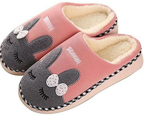 A Pair Of Saguaro Slippers Autumn Winter Slippers Cotton Plush Soft Inner Lining Women Men Home Slippers