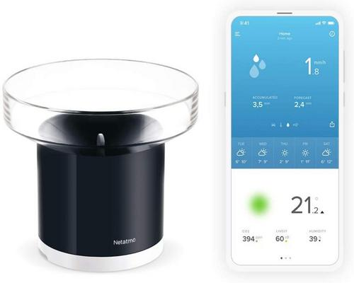 een Netatmo Wireless Connected Rain Gauge De Netatmo