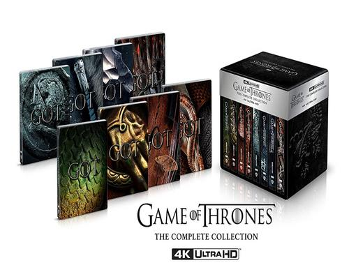 uno Movie Game Of Thrones 1-8 - Edition Steelbook Deluxe limitée (4K Ultra Hd) (33 disques)