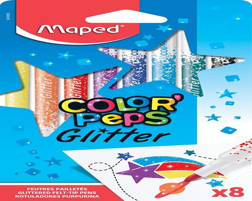 a Maped Color'Peps Markers Kit From Glitter Ink Glitter Coloring For Kids With Metallic Effect