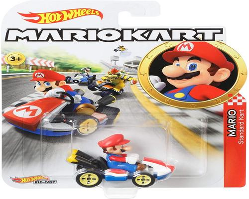 Hot Wheels Mario Kart Mini 1 Scale Mario -auto