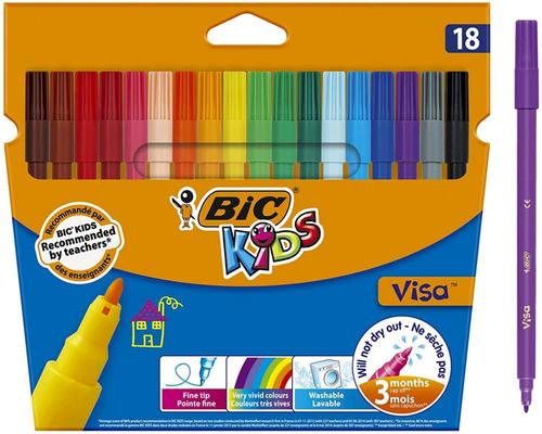 Набор фетровых ручек Bic Kids Visa De Coloriage A Fine Point