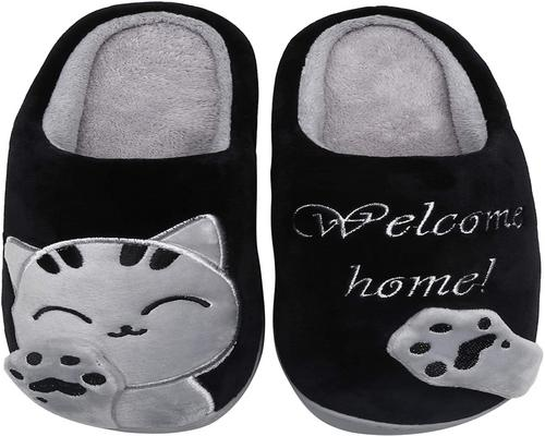 A Pair Of Mishansha Slippers Woman Man For Winter Autumn Slippers Plush Home Shoes With Cartoon