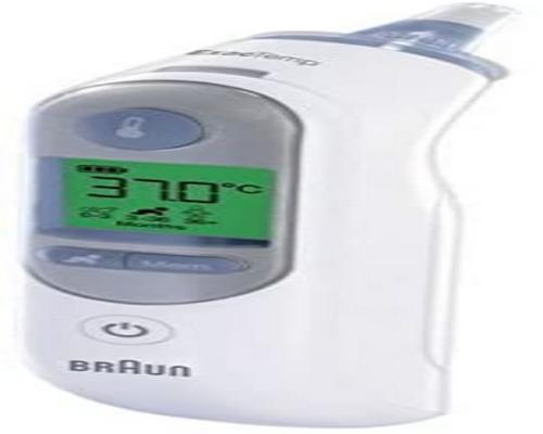 een Braun Thermoscan-thermometer