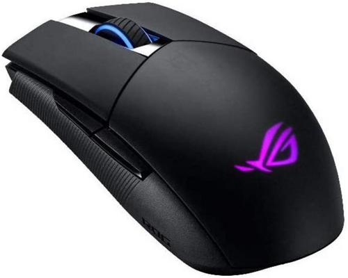 a Set Of Accessory Asus Optical Gaming Mouse - Rog Strix Impact Ii | Wireless Gaming Mouse With 16,000 Dpi | 5 Programmable Buttons, Rgb Lighting, 2.4 Ghz, Long Battery