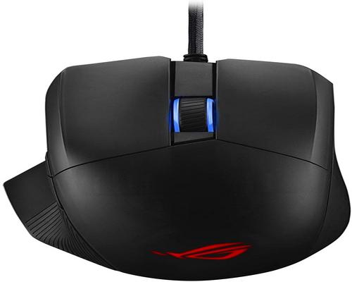 a Set Of Accessory Asus Optical Gaming Mouse - Rog Chakram Core | Wired Gaming Mouse | Programmable Joystick, 16000 Dpi Sensor, Push-Fit Switch Sockets Design, Adjustabl