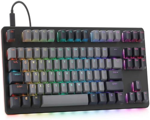 a Gaming Keyboard Drop Ctrl Mechanical Keyboard — Tenkeyless Tkl (87 Key) Gaming Keyboard, Hot-Swap Switches, Programmable Macros, Rgb Led Backlighting, Usb-C, Doublesho