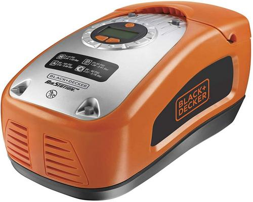 a Black Compressor + Decker Asi300-Qs Inflator - Wired
