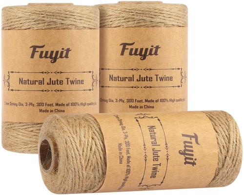 A Twine Leaked Jute Rope 900 Feet 3 Spools Natural Jute Rope Jute Rope Gift Wrapping